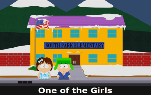 One of the Girls (Banner) - south-park Fan Art