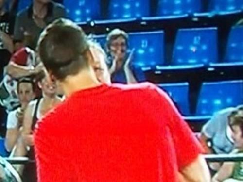 Petra Kvitova and Tomas Berdych kiss