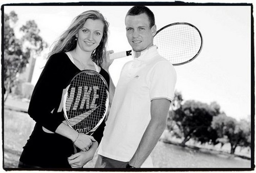 Petra Kvitova and Tomas Berdych..