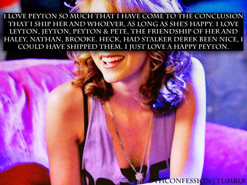 Peyton Sawyer confession
