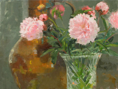गुलाबी Peonies