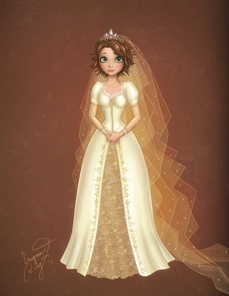 Tangled Ever After Images Rapunzel In Her Wedding Dress Wallpaper And Background Photos