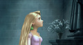 Rapunzel looking at the Statue - the-hunchback-of-notre-dame-and-tangled screencap