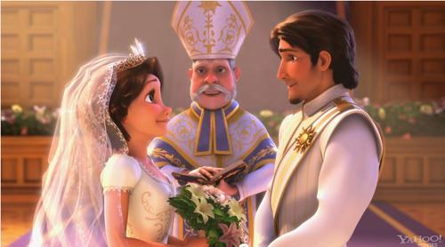 Gusot wolpeyper entitled Rapunzel's wedding toga
