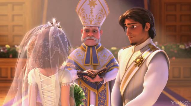 Rapunzel's wedding toga