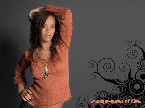 Rihanna wallpaper probably with a playsuit titled RiRi
