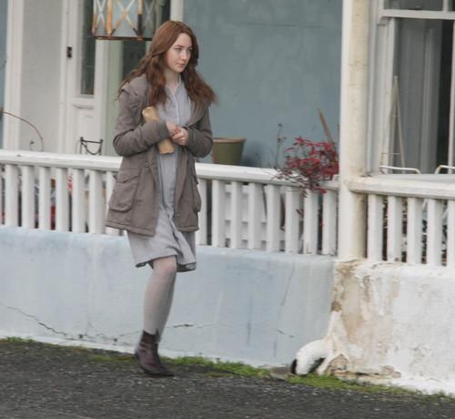 Saoirse Ronan on set 'Byzantium' in Ireland [December 15]