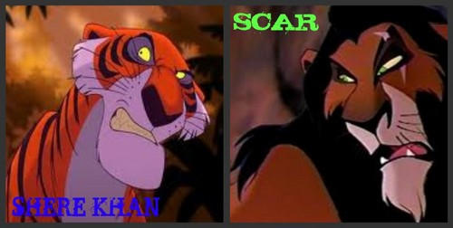 Classic Disney kertas dinding containing Anime entitled Scar&Shere Khan