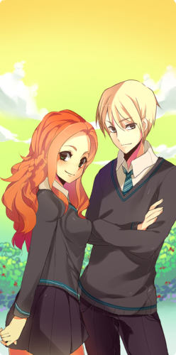 Rose and Scorpius fond d'écran possibly with animé entitled Scorpius and Rose