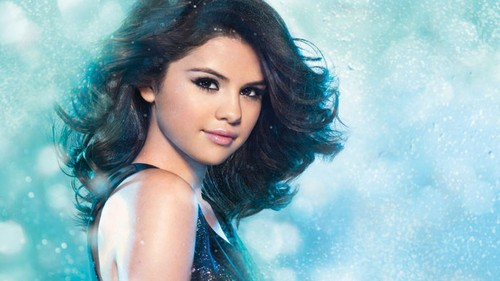 Celebrity Contests wallpaper probably with a bikini, a hot tub, and a portrait entitled Selena Gomez
