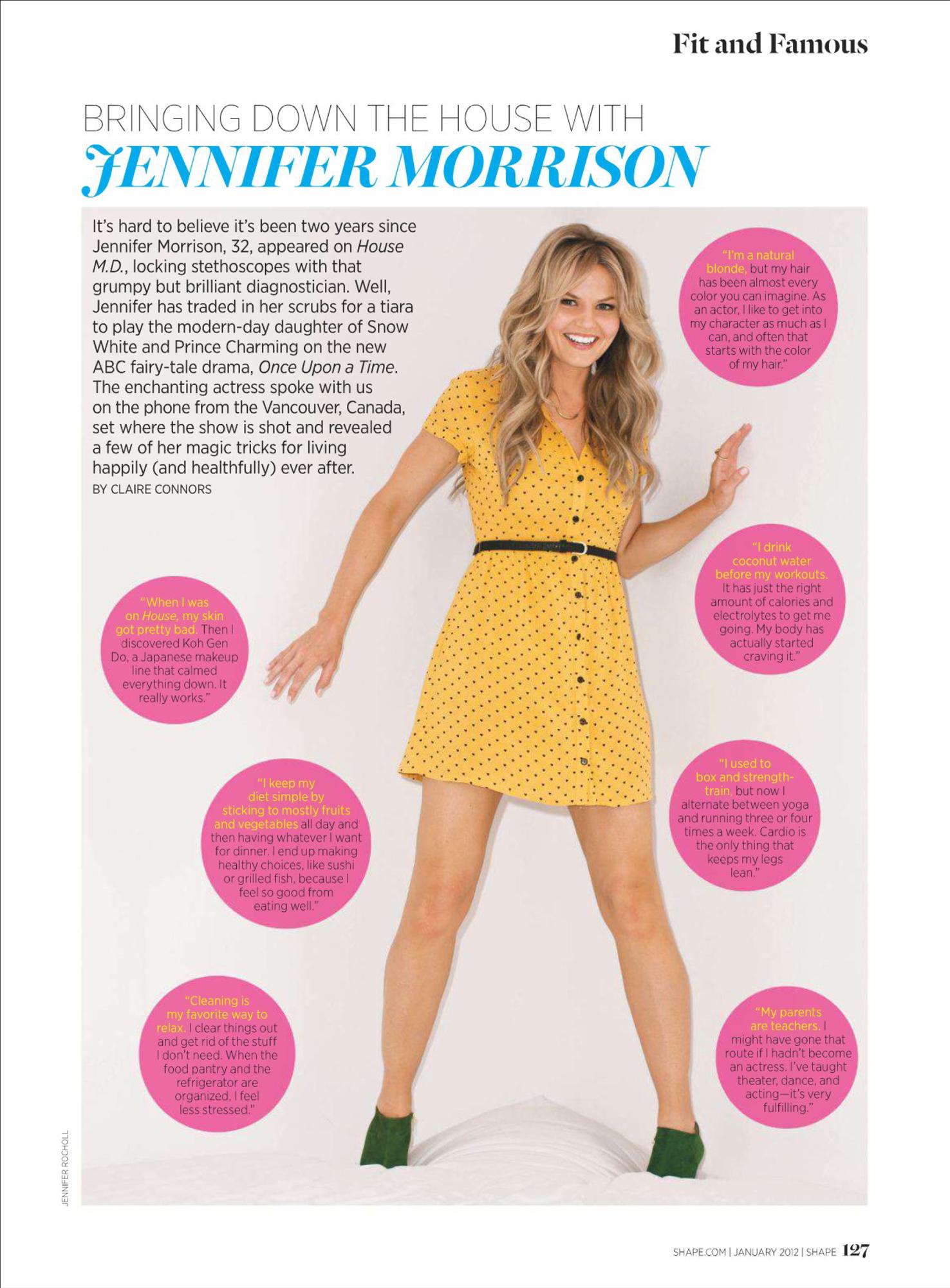Jennifer Morrison images Shape Magazine - Jan 2012 HD wallpaper and