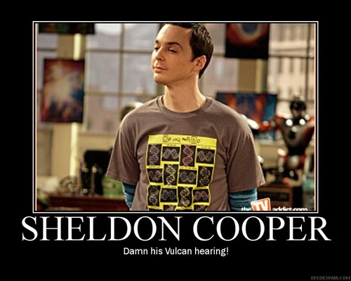 The Big Bang Theory wallpaper containing a jersey entitled Sheldon Cooper