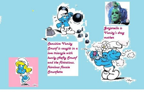 The Smurfs wolpeyper containing anime called Smurf scene