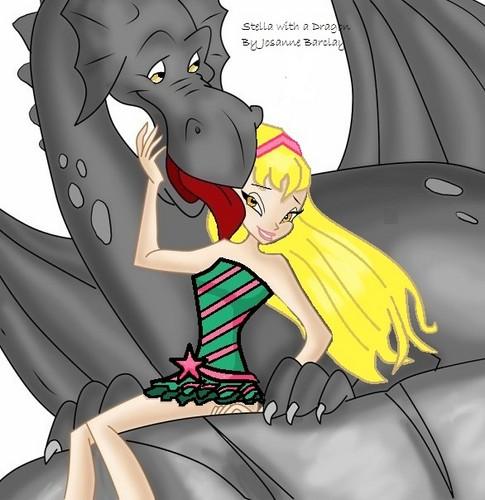 Stella with a dragon