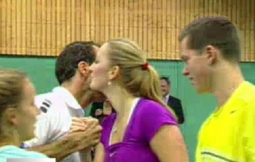 Stepanek and Kvitova 吻乐队(Kiss)