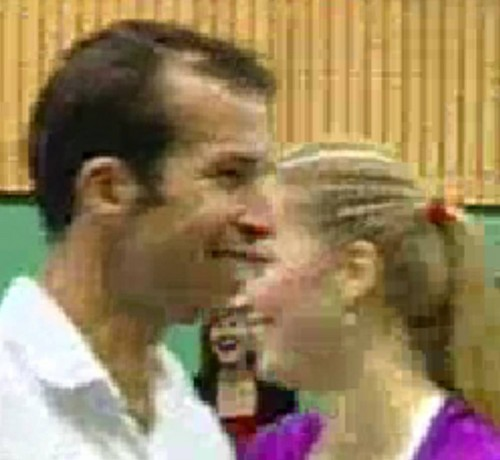 Stepanek and Kvitova kiss