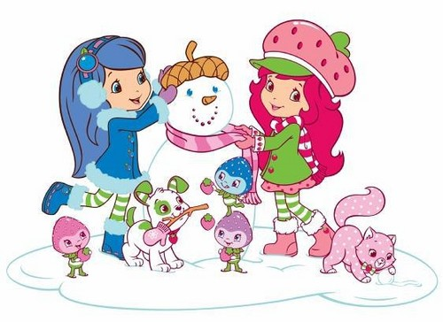 Strawberry Shortcake wallpaper probably containing anime titled Strawberry Shortcake Snow Fun
