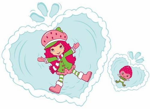 Strawberry Shortcake wallpaper entitled Strawberry Shortcake Snow Fun