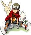 Takuya with Bokomon and Neemon - digimon-frontier fan art