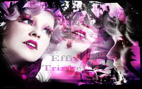 The Hunger Games Wallpaper- Effie Trinket