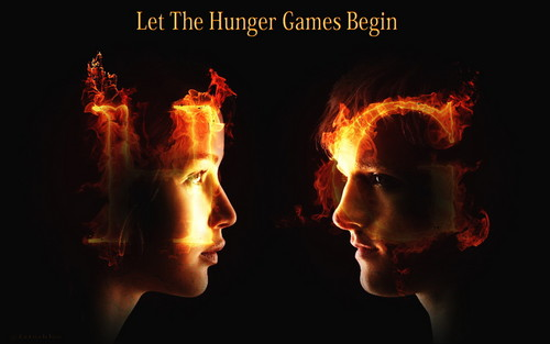 The Hunger Games Wallpaper- Katniss and Peeta