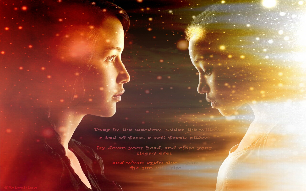 The hunger games the hunger games wallpaper- katniss and rue