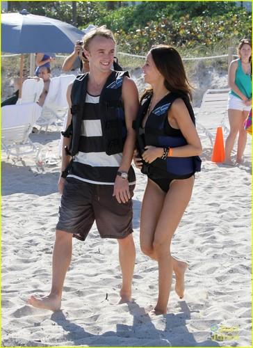 Tom Felton: Jet Skiing with Jade!