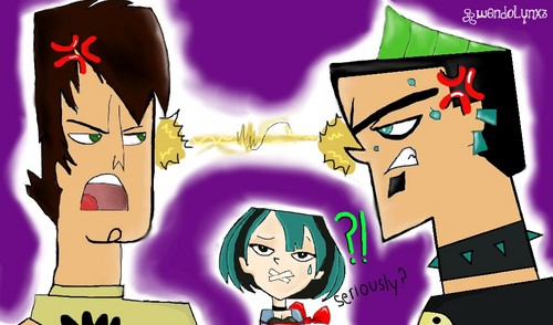 Total Drama Island wallpaper with anime entitled Trent vs Duncan