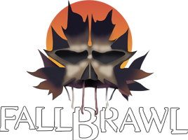 World Championship Wrestling 바탕화면 possibly with a triceratops titled WCW Fall Brawl 2000 PPV Logo