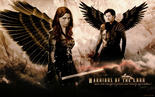 Supernatural wallpaper probably containing a sign called Warriors of the Lord