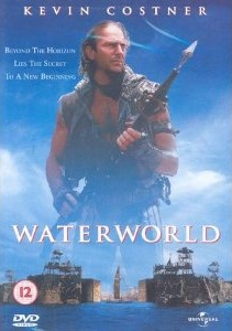 Waterworld wallpaper with a rifleman entitled Waterworld UK DVD Cover
