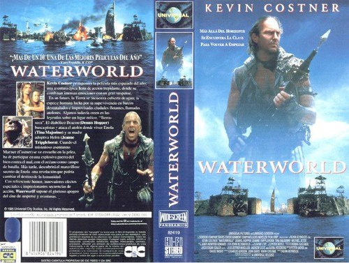 Waterworld wallpaper entitled Waterworld US VHS Cover
