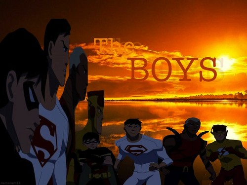 Young Justice boys belong to us! Hintergrund containing a sign entitled YJ boys