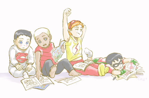 Young Justice boys belong to us! Hintergrund probably with Anime entitled YJ boys