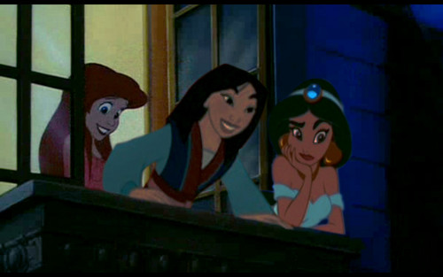 ariel, melati, jasmine and Mulan