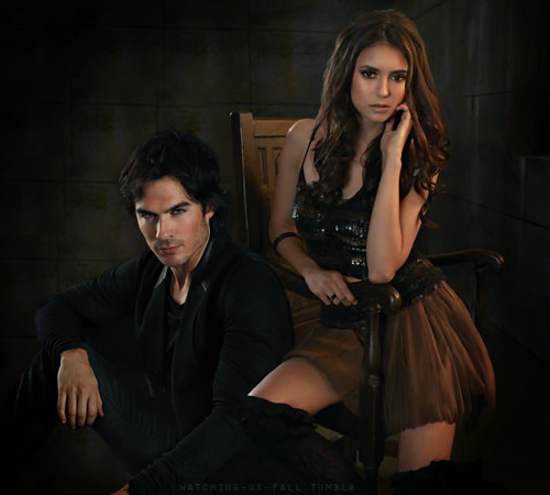 Damon & Elena karatasi la kupamba ukuta with a well dressed person titled delena