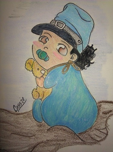 i drew of roc as a baby