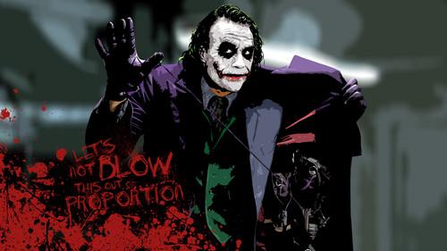 The Joker kertas dinding entitled joker