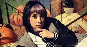 kreayshawn with purple hair