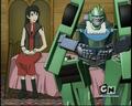 transformers-cybertron - lori and six-speed screencap