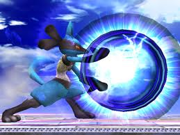 Pokemon Images Lucario Using Aura Sphere Wallpaper And Background Photos