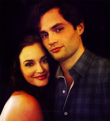 Dan and Blair wallpaper probably containing a portrait titled penn/leighton manip