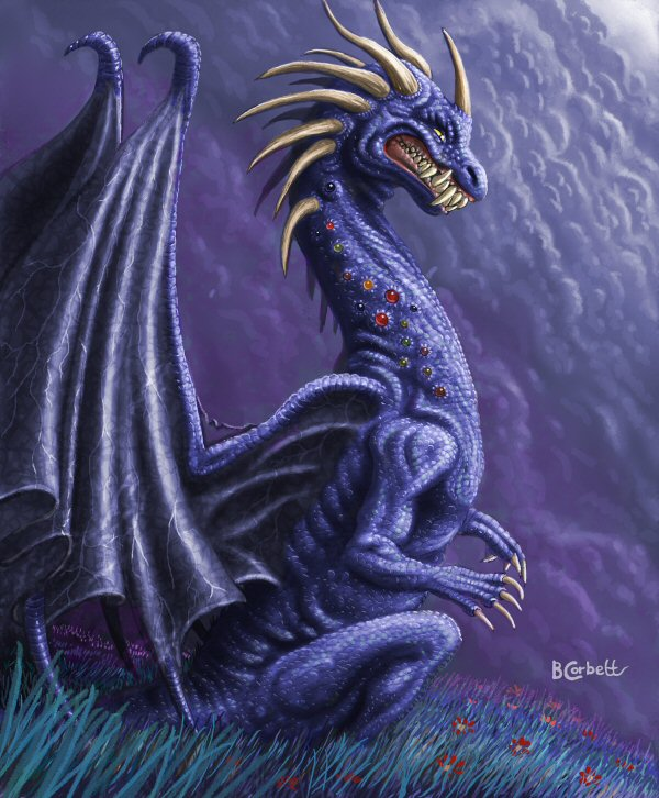 purple scheming dragon