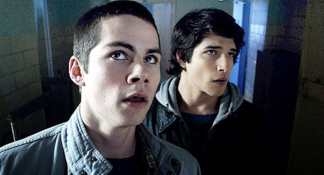 Teen lupo wallpaper probably containing a portrait called scott and stiles