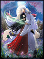 sesshomaru and kikyo - flaming-wave666 fan art