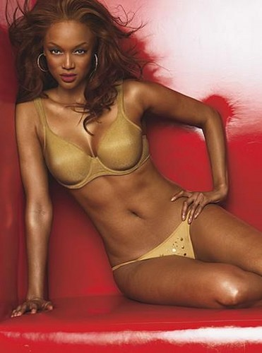 Tyra Banks karatasi la kupamba ukuta possibly containing a bikini, a swimsuit, and attractiveness called tyra swimsuit