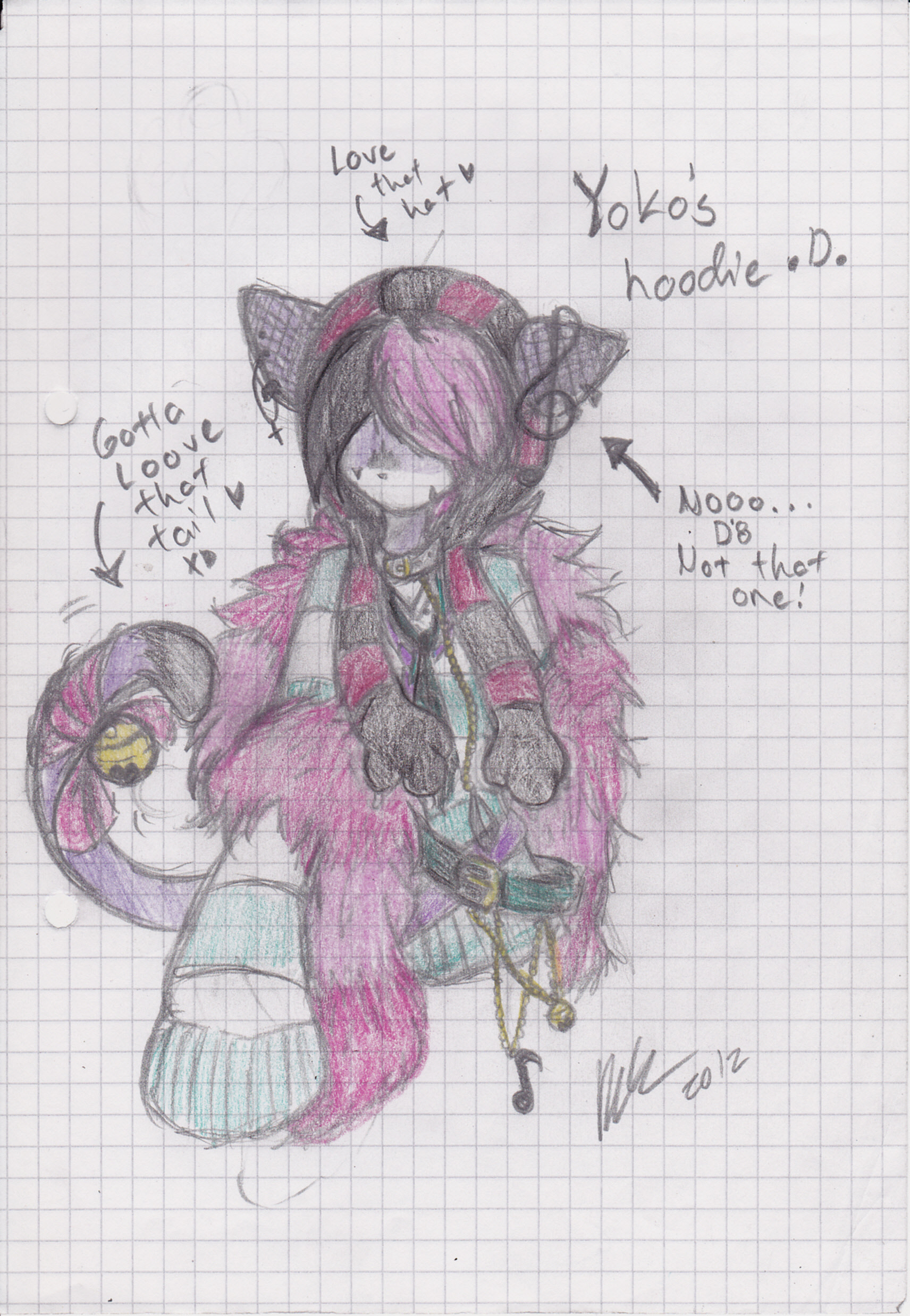 .:Hoodie Desing (Sketch):. ~ Yoko The Cheshire Cat