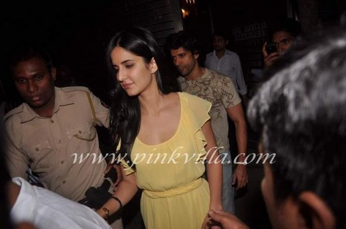 Katrina Kaif at Farhan Akhtar's Birthday Party.