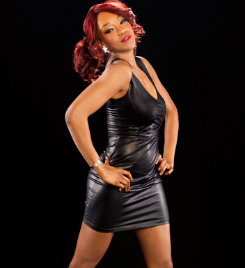 WWE Divas wallpaper possibly containing a cocktail dress and a bustier entitled Alicia Fox