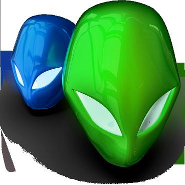 Alien floaty heads